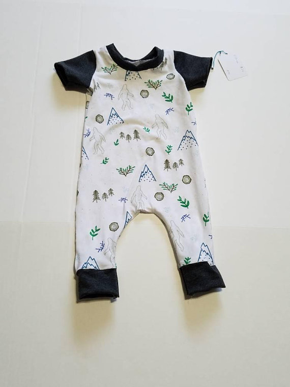 ffcec0ebb Sasquatch romper, sasquatch clothing, sasquatch baby outfit, baby boy outfit,  baby boy gift, Bigfoot