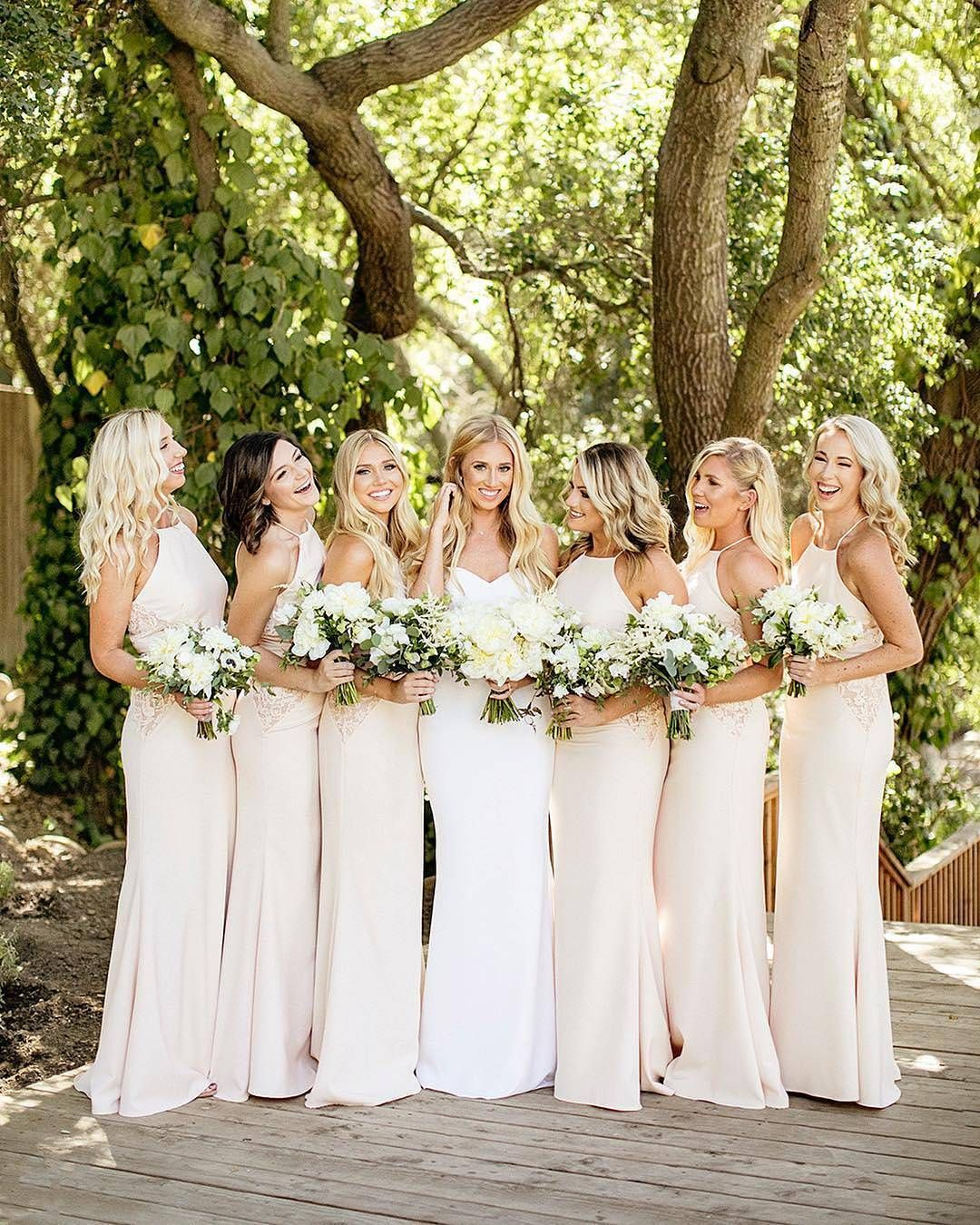 Bridesmaids dresses neutral tones everything wedding pinterest bridesmaids dresses neutral tones ombrellifo Images