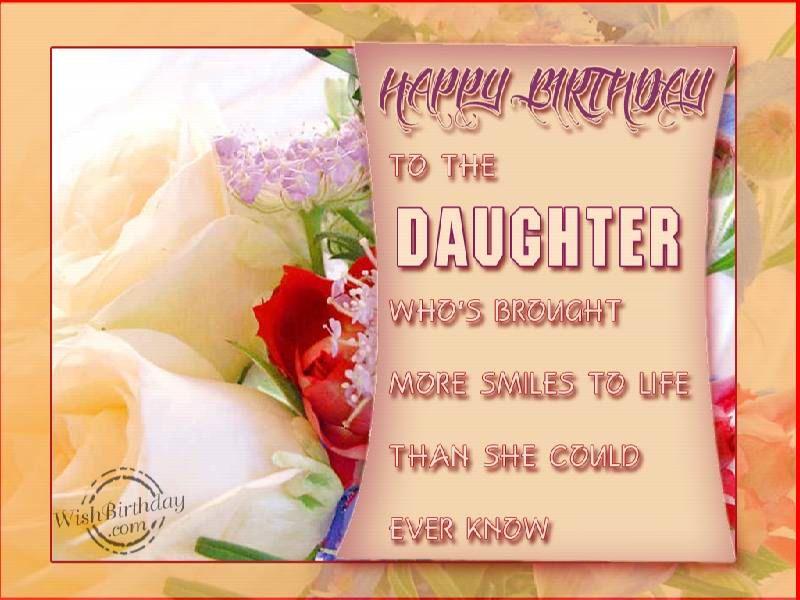 Happy Bday Daughter Happy Birthday Loving Daughter Birthday