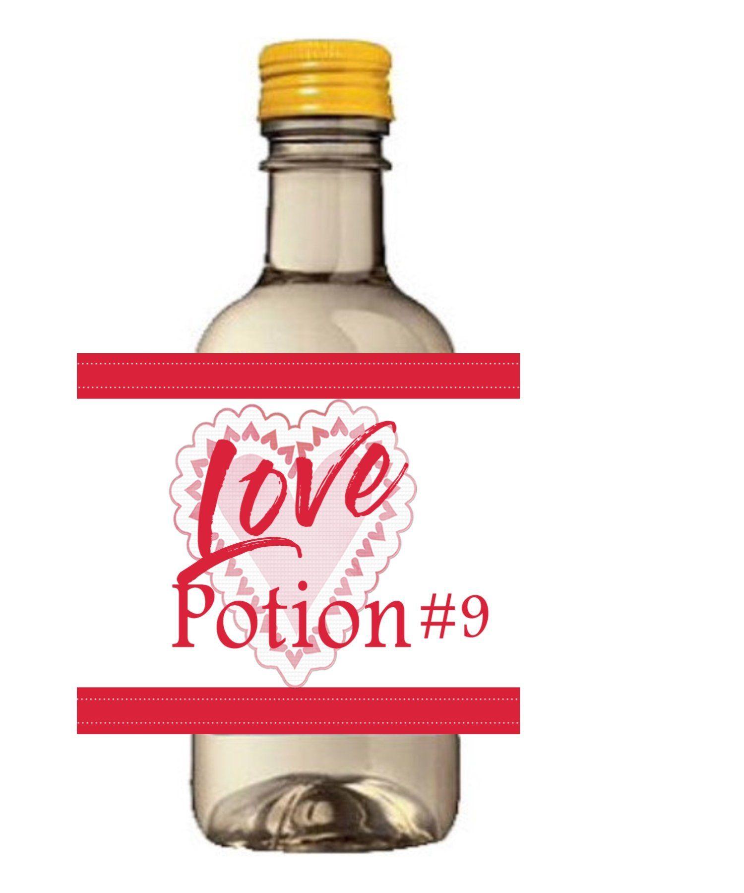 Valentine S Day Mini Wine Bottle Labels Love Potion 9 Happy Valentine S Day Mini Wine Labels Love Pot Mini Wine Labels Mini Wine Bottles Wine Bottle Labels