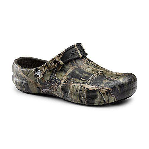 f34189b1e Crocs SureGrip Unisex Bistro Realtree® Camo Slip Resistant Work Clogs