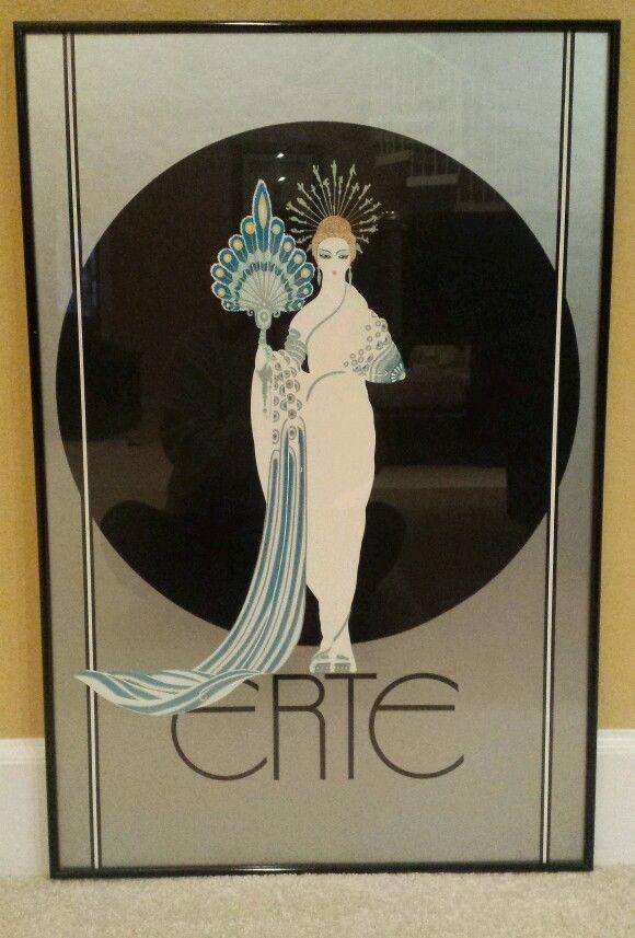 Vtg erte symphony in black athena framed prints signed ebay