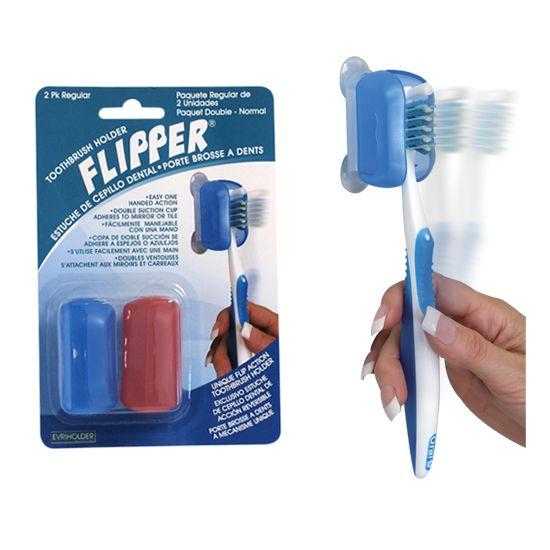 Flipper Toothbrush Holder