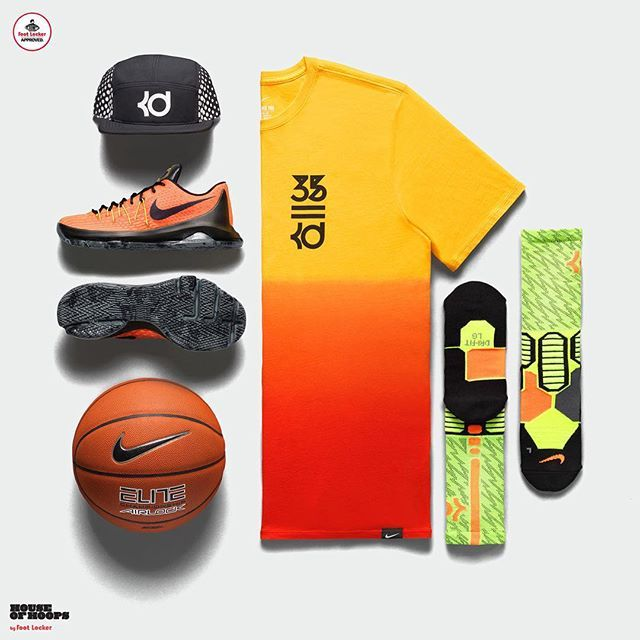 71330a2ae1f7 Hunt s Hill Sunrise Collection   Nike KD Sunrise Tee available in stores  and online at footlocker.com.  HouseOfHoops