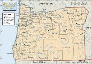 Map Of Oregon Counties Oregon Map