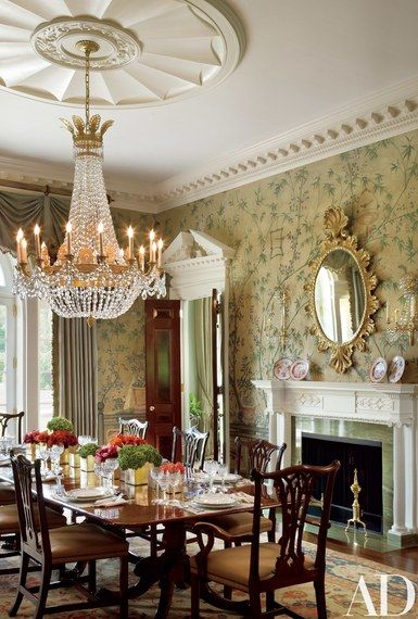 Allan Greenberg Crafts A Georgian Style House In New Jersey Dining Room Victorian Elegant Dining Room Beautiful Dining Rooms Beautiful victorian dining room for