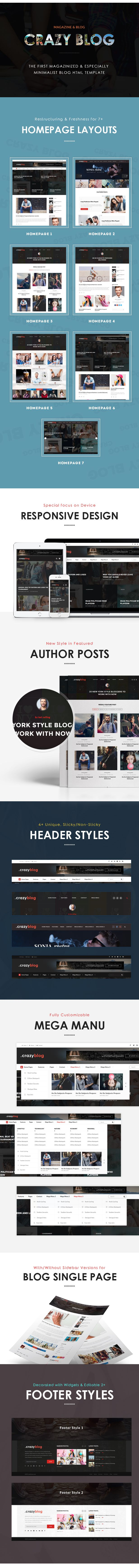 CrazyBlog - Blog HTML Template for Ads Businesses (Personal ...