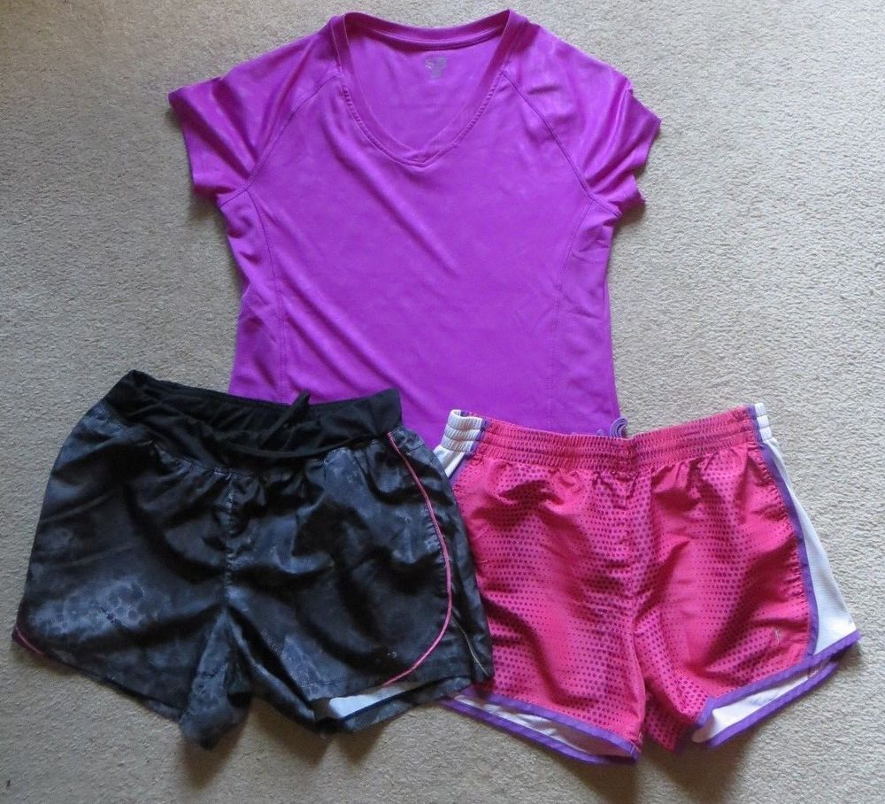 d2e1c41fb7496 2 pair of Athletic shorts (Champion and Danskin) and Champion shirt ...