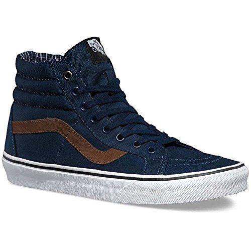 b6729546d7ee58 Vans V004OKJSC Unisex Sk8-Hi Reissue Skate Shoes Dress Blues White 9 B(M) US  Women   7.5 D(M) US Men