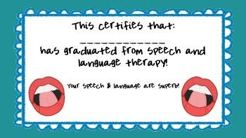 Speech Graduation Certificate  Speech Certificates  Speech