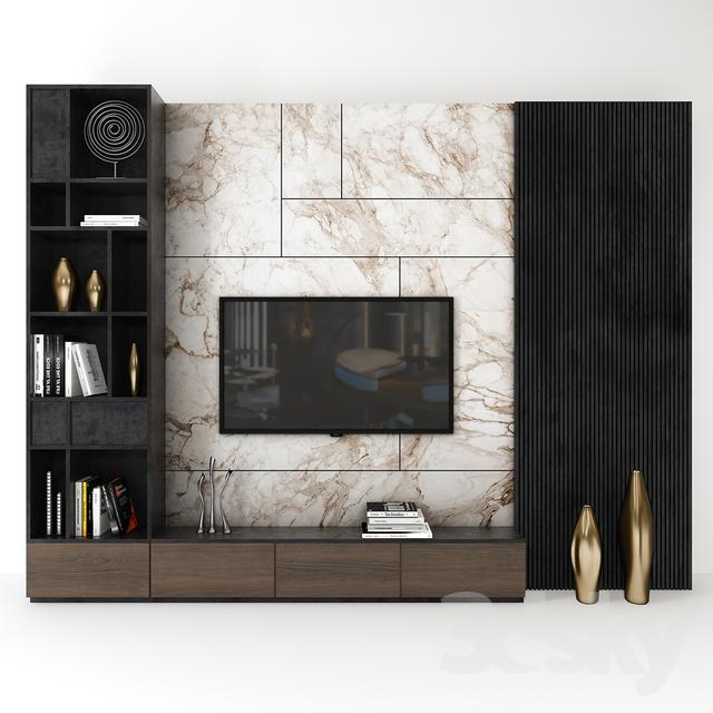 3d models Other - Tv wall set_ 03#models