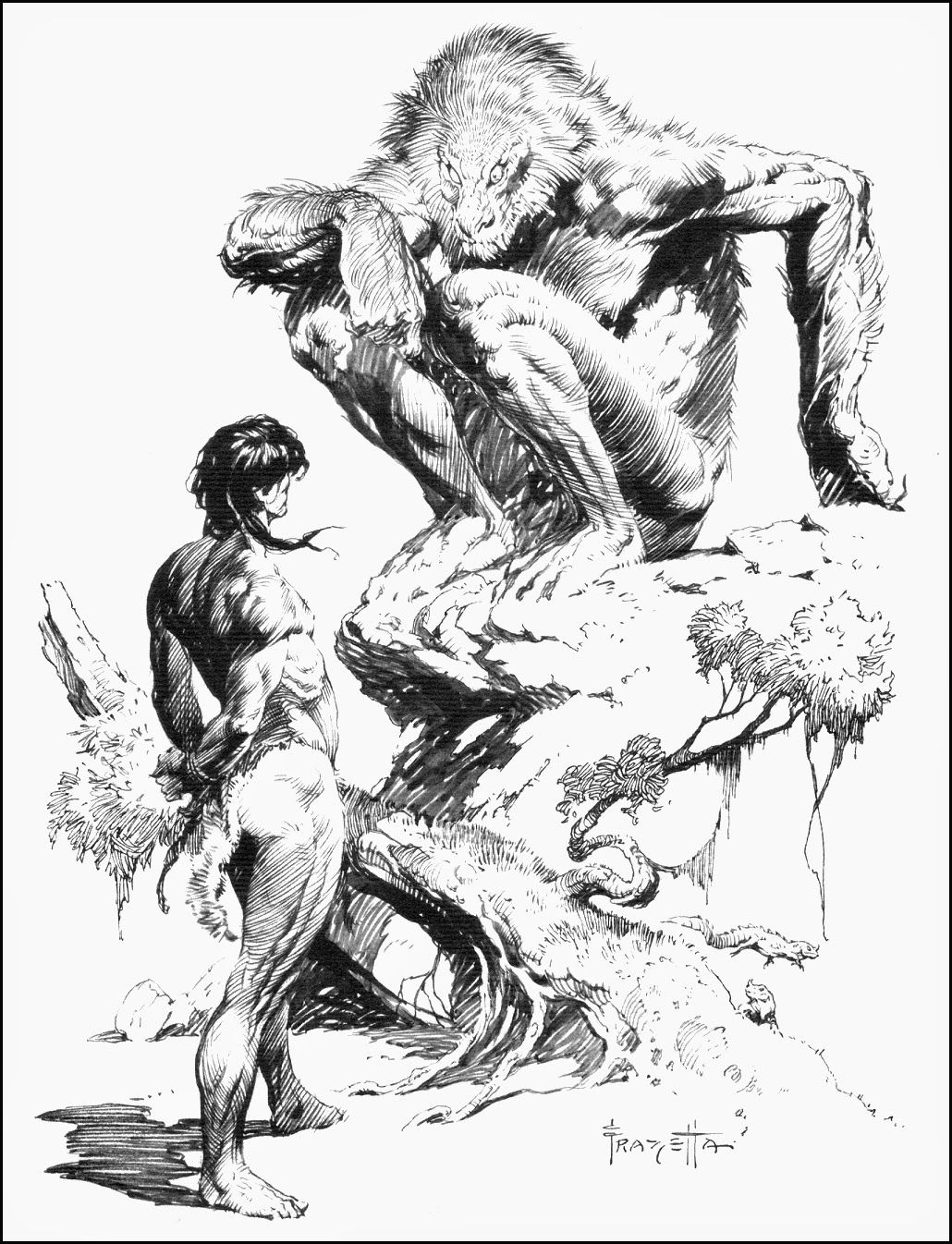 Cap'n's Comics: Some Canaveral Press by Frank Frazetta