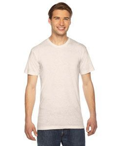 American Apparel Unisex Triblend Short-Sleeve Track T-Shirt TR401 TRI OATMEAL