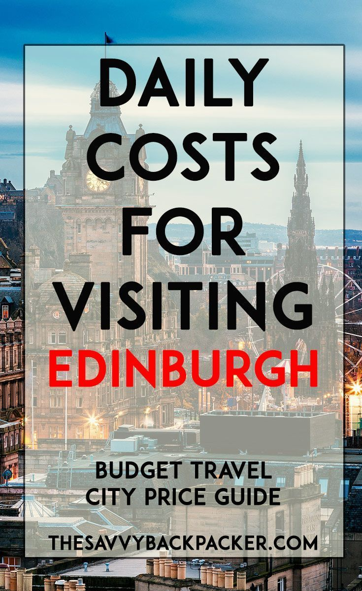 Daily Costs To Visit Edinburgh