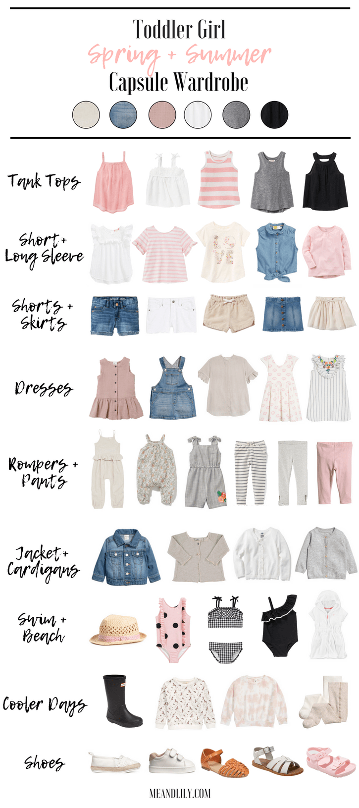 Dressing De Petite Fille a perfect capsule wardrobe for your toddler girl this spring