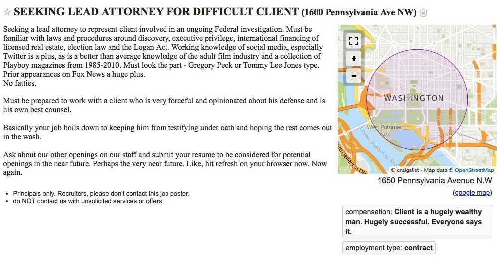 Funniest Craigslist Ads All The Weird And Crazy Things Posted Help Wanted Ads Difficult Clients Funny Craigslist Ads