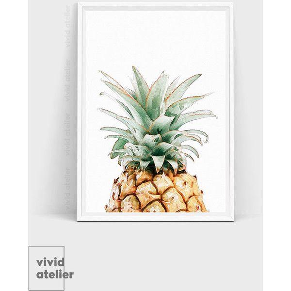 Pineapple Print, Pineapple Wall Art, Watercolor Pineapple, Best