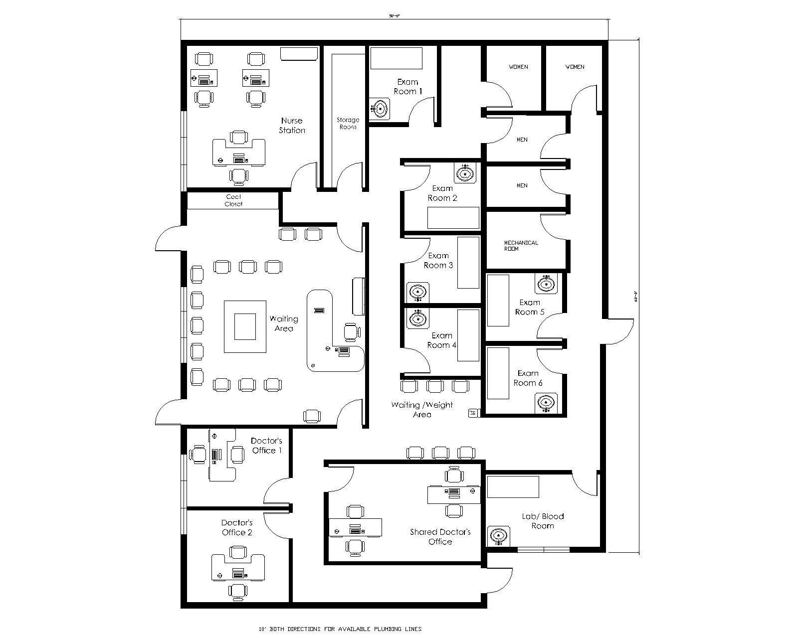 Medical office design plans doctors office layout design for Office layout design online