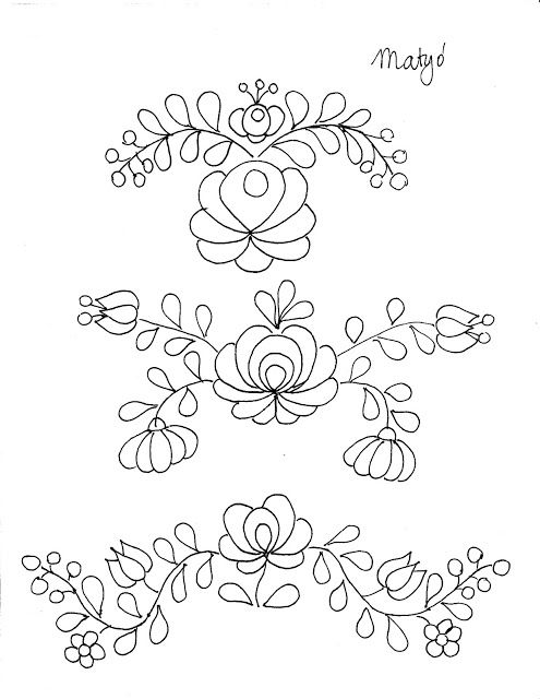 Untrendy Life: 3 Free Hungarian Embroidery Designs   Crtezi ...