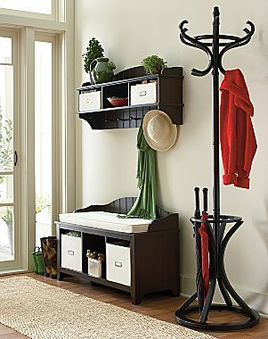 Entry Ashton Bench u0026 Wall Storage Shelf with Baskets - jcpenney $300 & Entry: Ashton Bench u0026 Wall Storage Shelf with Baskets - jcpenney ...