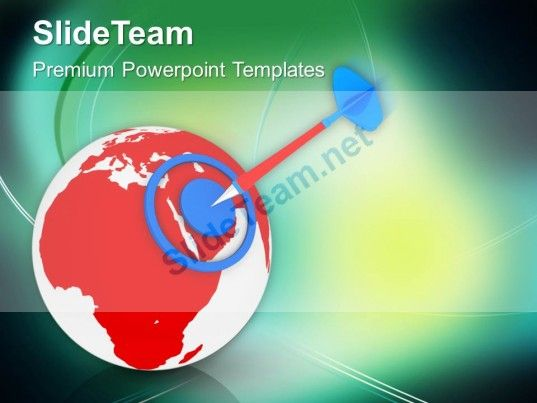 world with target strategy geographical powerpoint templates ppt