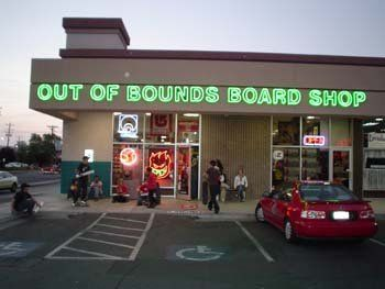 Out of Bounds Boardshop in Reno. Great place for snowboarding gear.