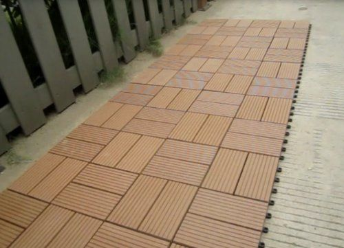 Build4eco diy outdoor deck tile patio interlocking tile composite