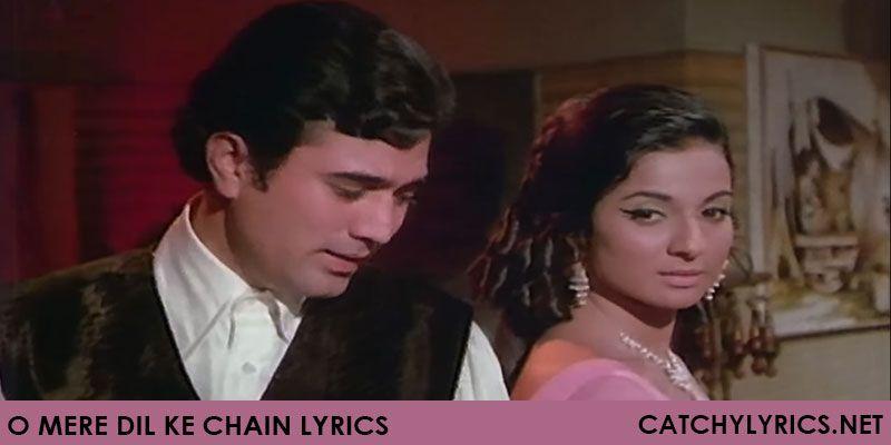 O Mere Dil Ke Chain Lyrics Kishore Kumar Bollywood Music Bollywood Songs Marathi Song