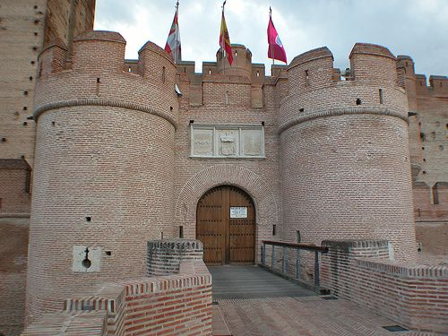 Located in Valladolid, Spain, building on La Mota, Medina del Campo Castle began sometime in the 13th century as a residence for Alfonso VIII. The 14th and 15th centuries saw further additions and improvements under the rule of Henry IV. If this isn't the definitive picture of a castle, I don't know what is!