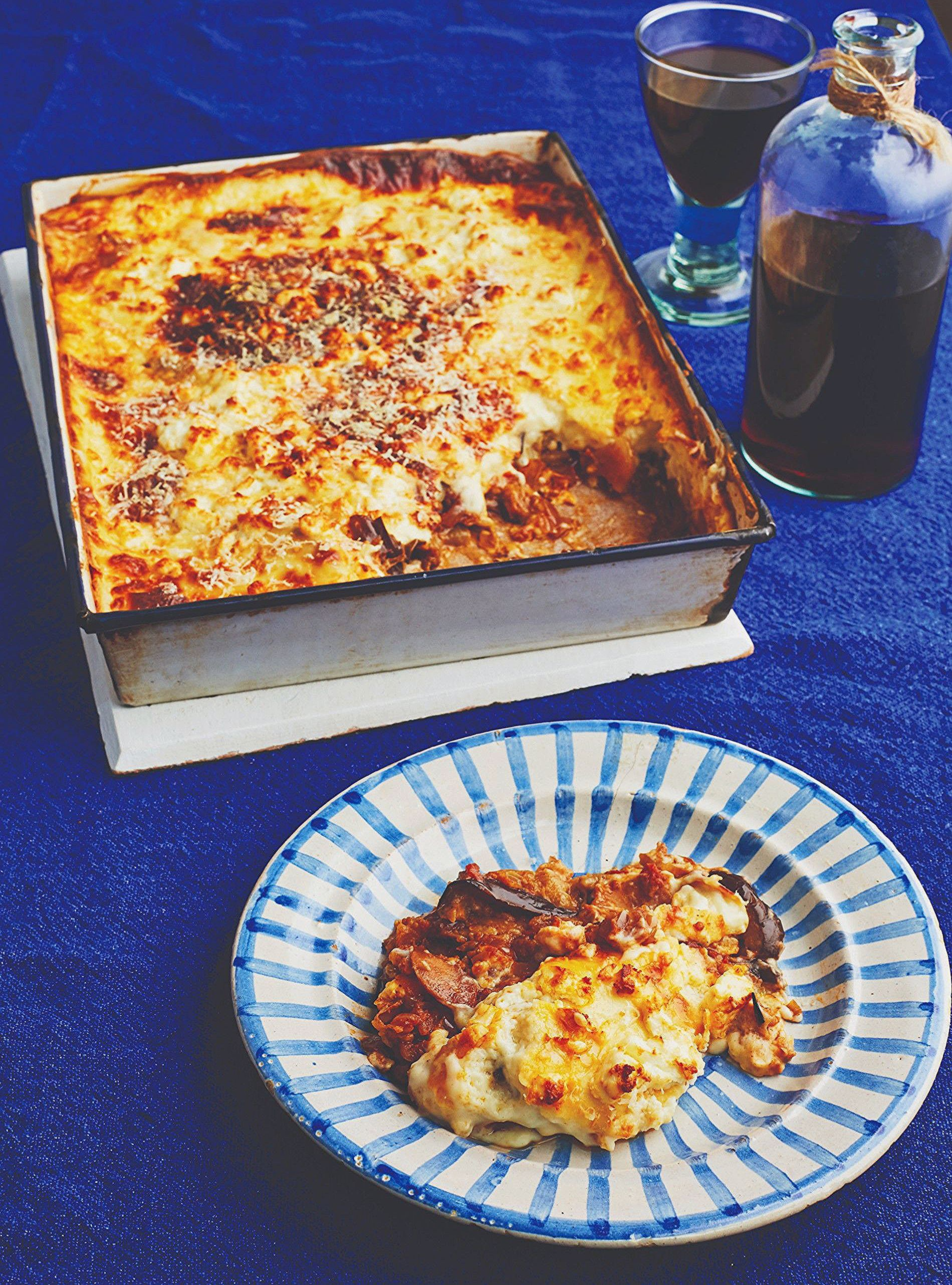 Aubergine And Potato Vegetarian Moussaka Liz Earle Wellbeing Moussaka Recipe Vegetarian Moussaka Recipe Vegan Moussaka