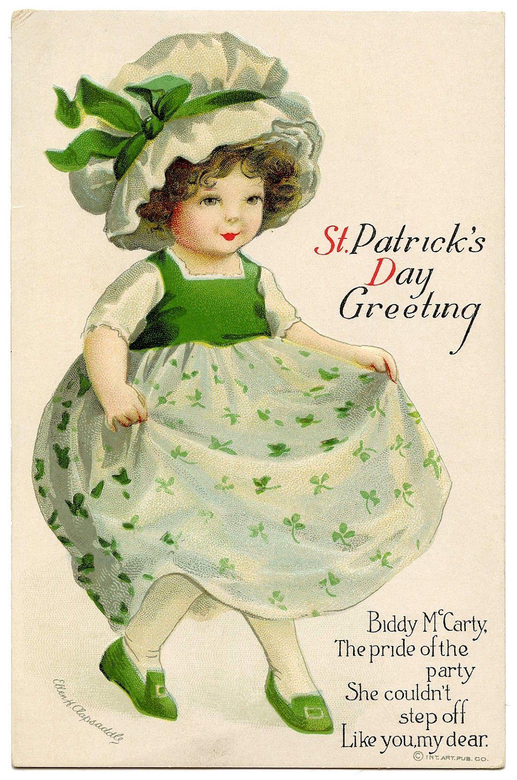 St Patricks Day Greetings Vintage St Patricks Day Happy St Patricks