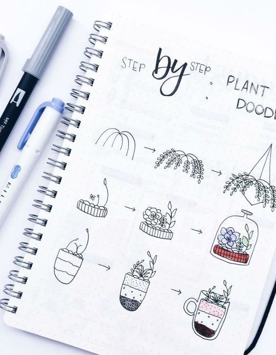 Gorgeous Step by Step plant doodles by ig@amndlr. #cactusplant