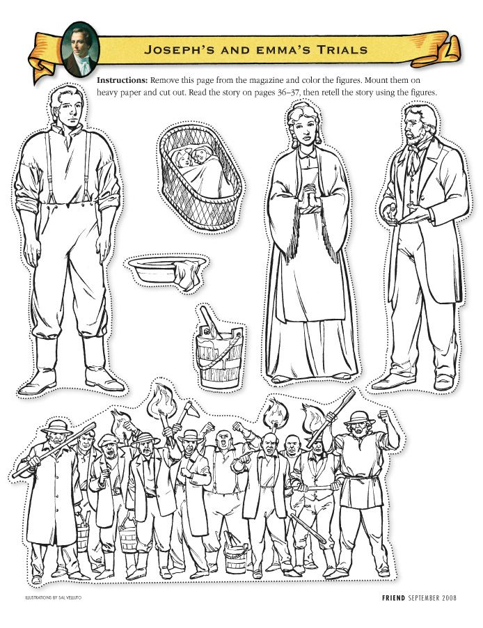 Joseph Smith Lives in Ohio cutout figures | Scripture Camp 2017 ...