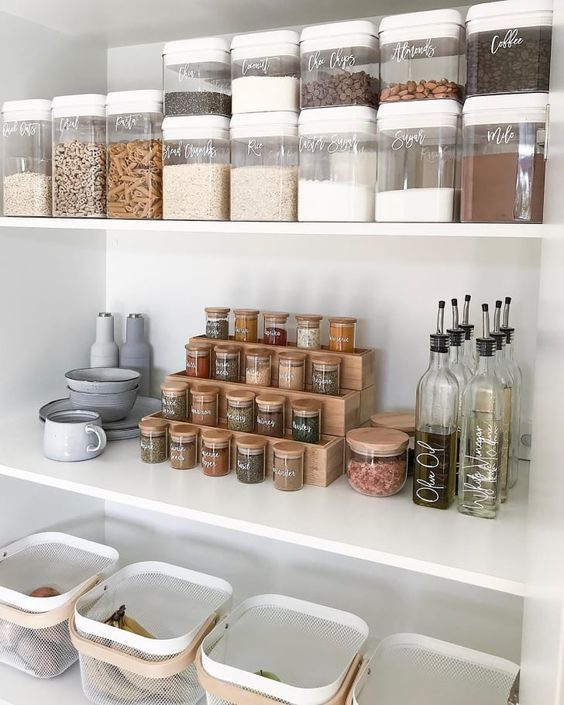 Check Latest Small Kitchen Organization Ideas Space Saving Tiny House Kitchen Cabinets Organizat Pantry Inspiration Pantry Organisation Small Kitchen Cabinets