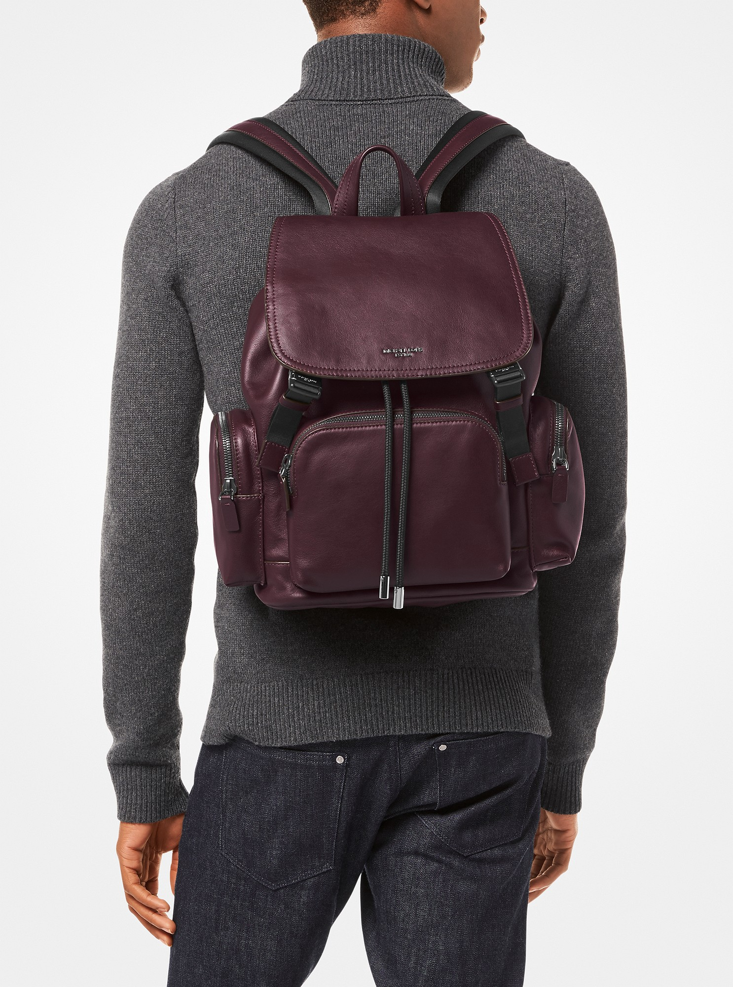 1bb4a7a1fcc7 Michael Kors Henry Leather Backpack - Cordovan | Products | Leather ...
