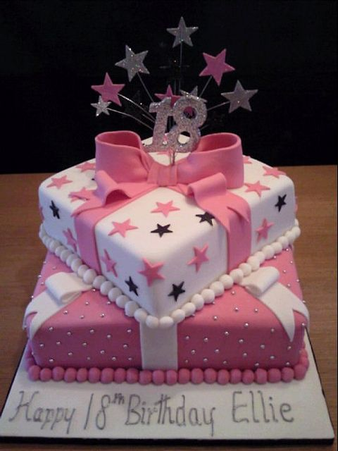 Pink And White 18th Birthday Cake Flickr Photo Sharing