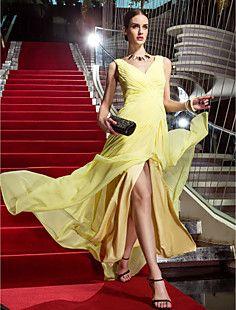 vaina / columna v-cuello del vestido de georgette cayó la no... – EUR € 65.41