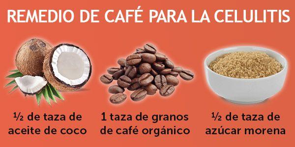 Remedio casero de cafe para la celulitis
