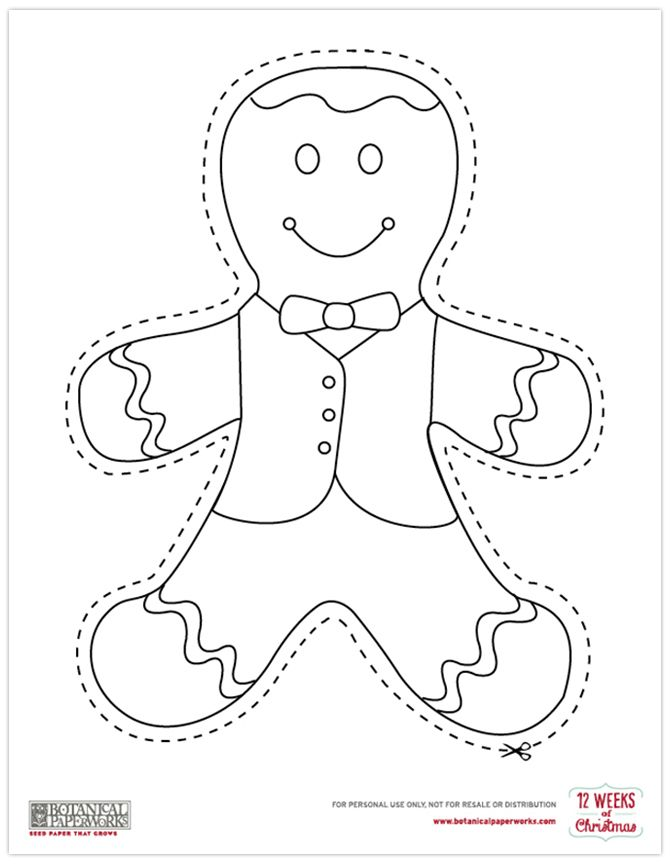 It is a photo of Tactueux Printable Christmas Decorations ( Cutouts)