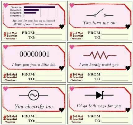 Electrical Engineering Valentines  Geek    Electrical
