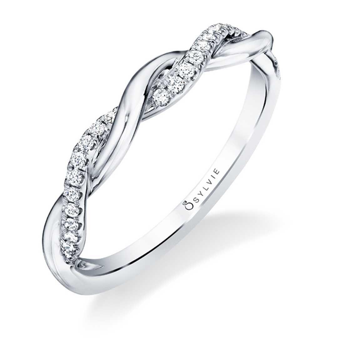 High Polish Spiral Engagement Ring Yasmine Braided Diamond Wedding Band Braided Engagement Rings Diamond Wedding Bands