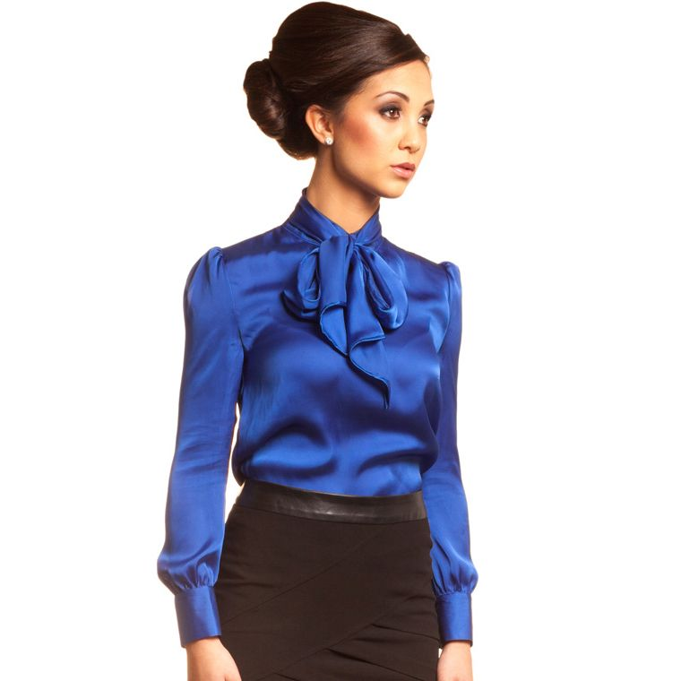 Blue blouse | Business look - office look women | Pinterest ...