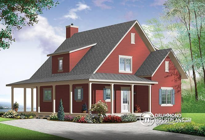 W3518 v1 beautiful and small new modern scandinavian home plan 3 to 4 bedrooms open floor plan affordable fireplace farmhouse home planscountry