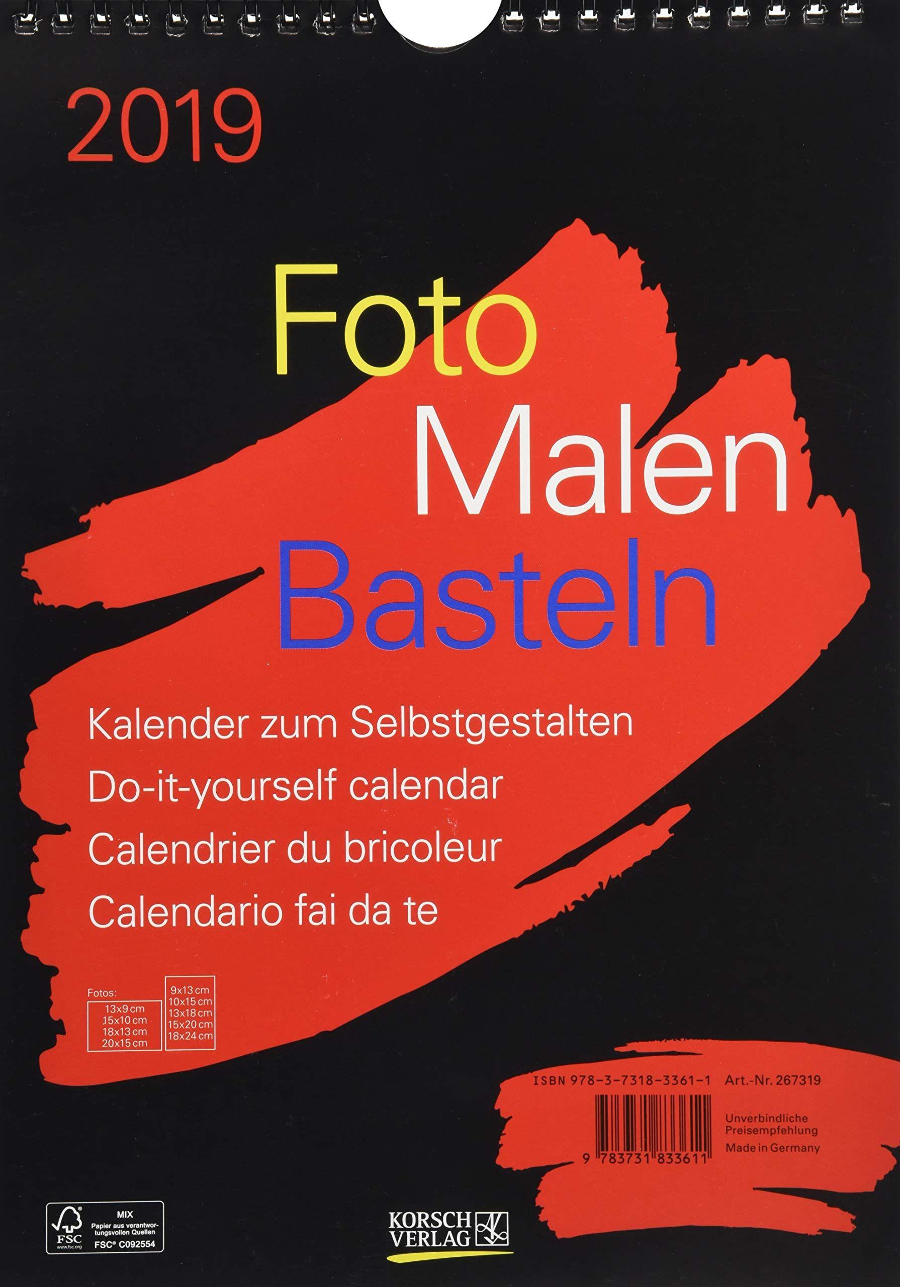 Foto Malen Basteln Schwarz 2019 Format A4 Kalender Zum Selbstgestalten Schwarz Basteln Foto Malen Calendario Fai Da Te Libri Libro Aperto