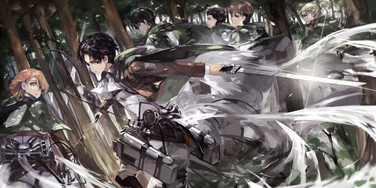 Shingeki No Kyojin Auruo Bossard Erd Gin Gunter Shulz Petra Ral Rivaille Saberiii Shingeki No Kyojin Wallpaper 1920x960 In 2020 Anime Attack On Titan Anime Wallpaper