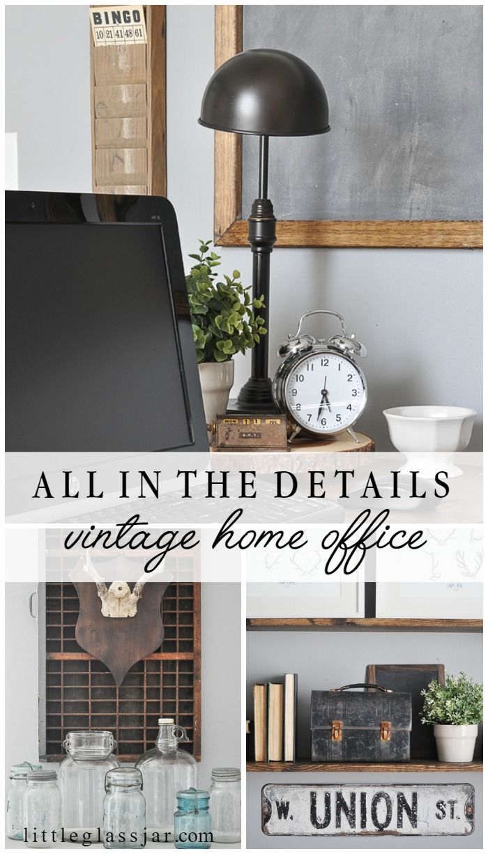 All The Details Of Our Vintage Home Office Via Littleglassjar.com