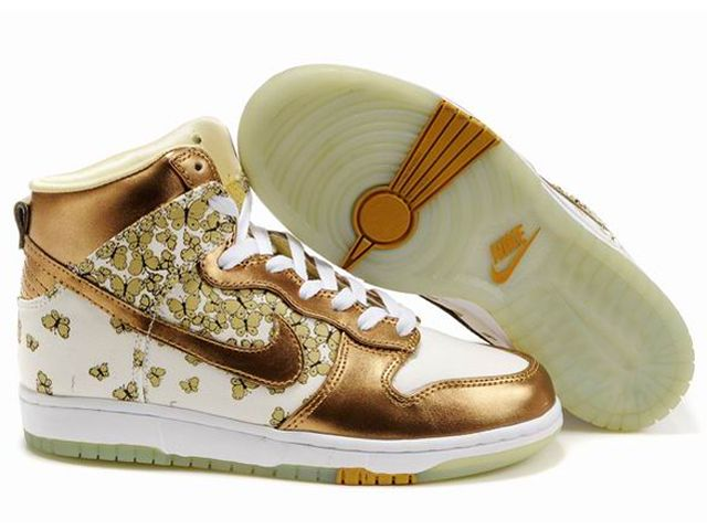 detailed look e587f 48ec0 Get Womens Nike Dunk High Top Shoes White Gold Butterfly, Price - Air  Jordan Shoes, 2017 New Jordan Shoes, Michael Jordan Shoes