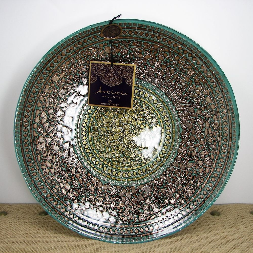 Artistic accents handmade turkish glass gold copper