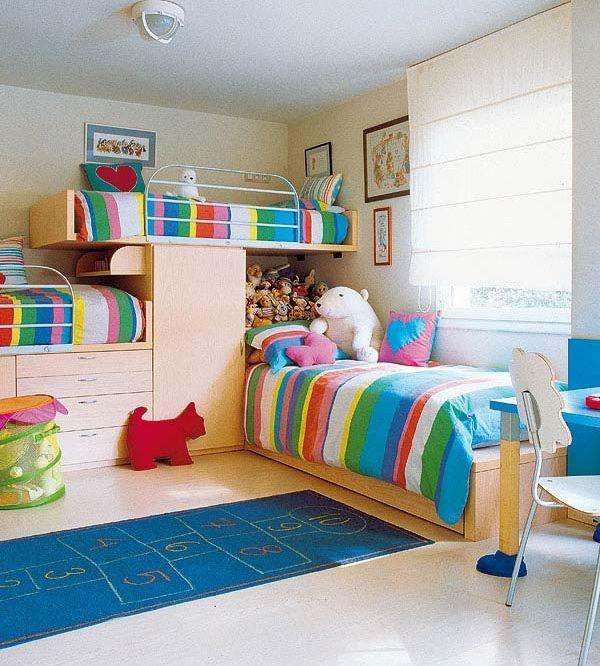 Decorar un dormitorio para tres ni os decoraci n casa - Decoracion ninos dormitorios ...