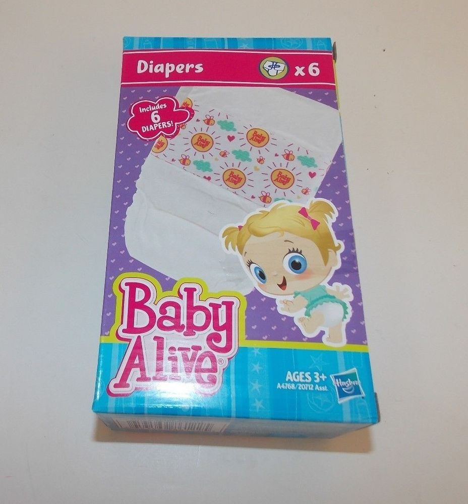 Baby alive disposable diapers refill 6 pack replacement
